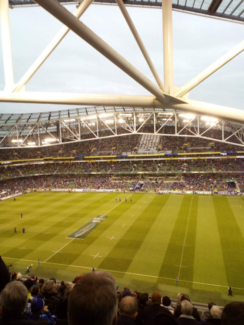 Seating view for Aviva Stadium Section 502 Row L Seat 24