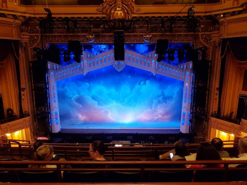 Seating view for Hippodrome Theatre Section Center Middle Balcony Row E Seat 310