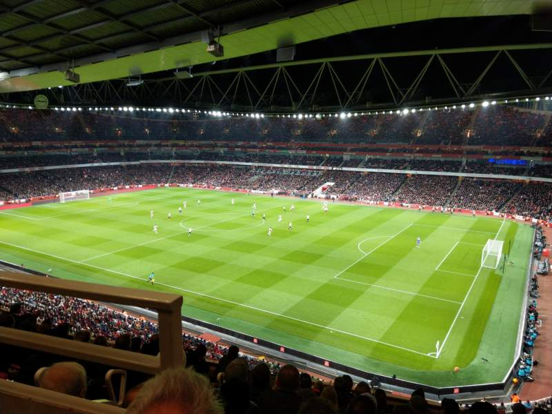 Seating view for Emirates Stadium Section 109 Row 9 Seat 488