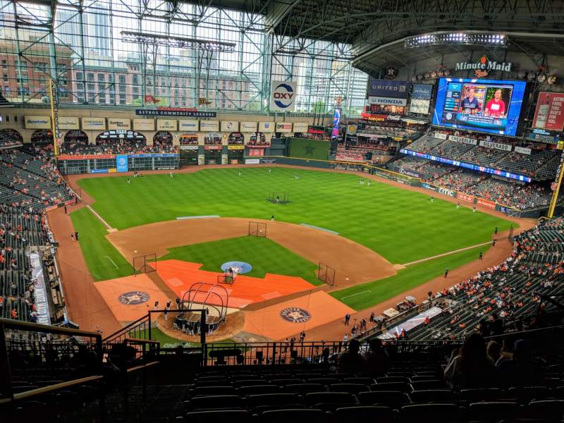 Seating view for Minute Maid Park Section 421 Row 9 Seat 1