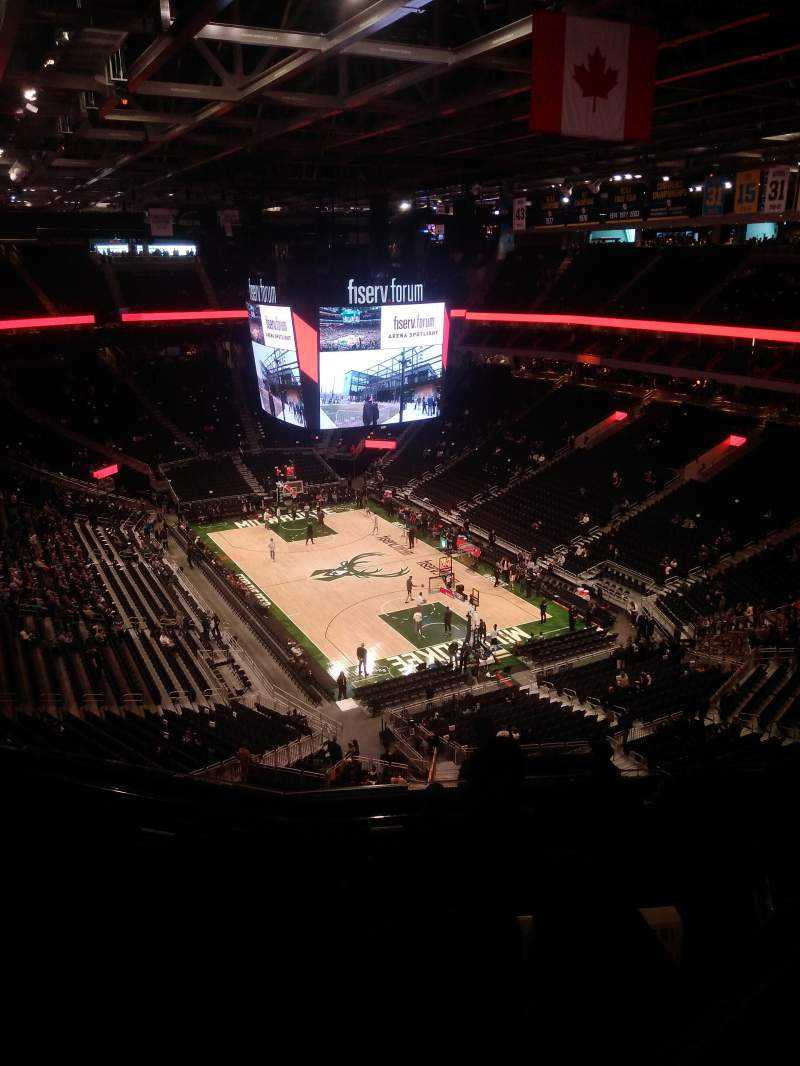 Seating view for Fiserv Forum Section 203 Row 9 Seat 10