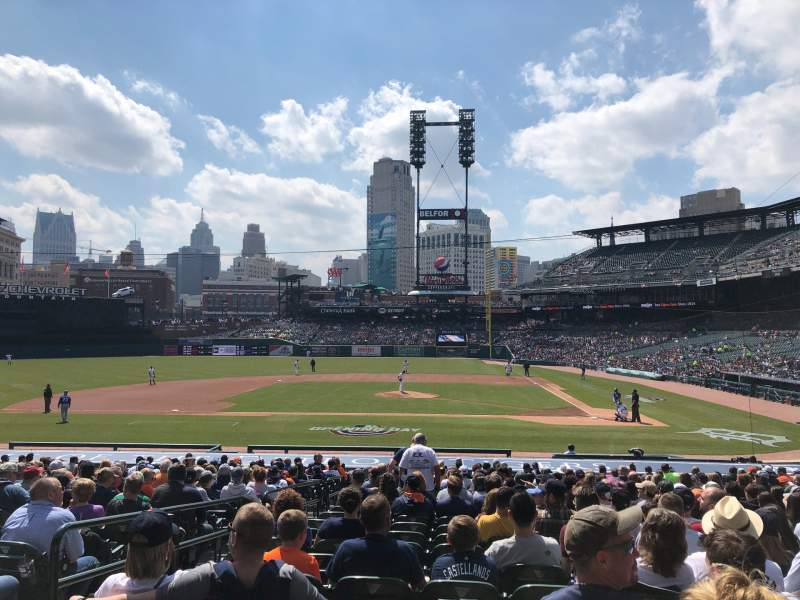 Seating view for Comerica Park Section 132 Row 30 Seat 14