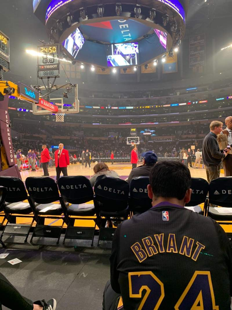Seating view for Staples Center Section 115 Row B Seat 4