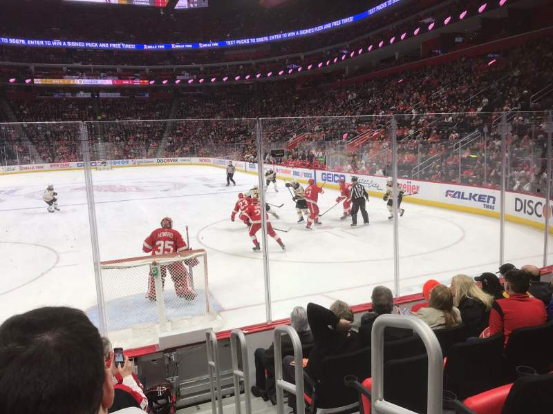 Seating view for Little Caesars Arena Section 103 Row 6 Seat 1