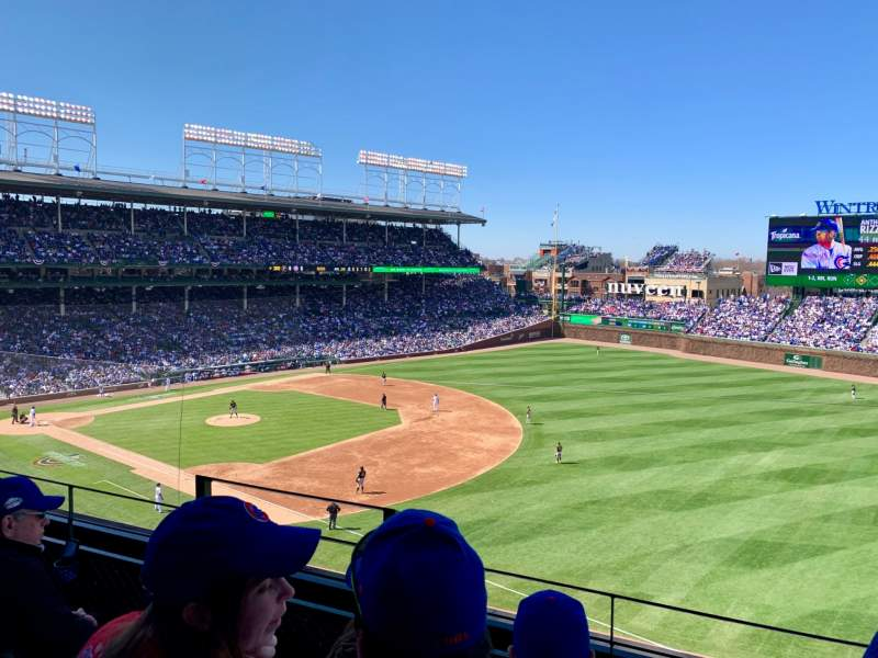 Seating view for Wrigley Field Section 329R Row 3 Seat 3