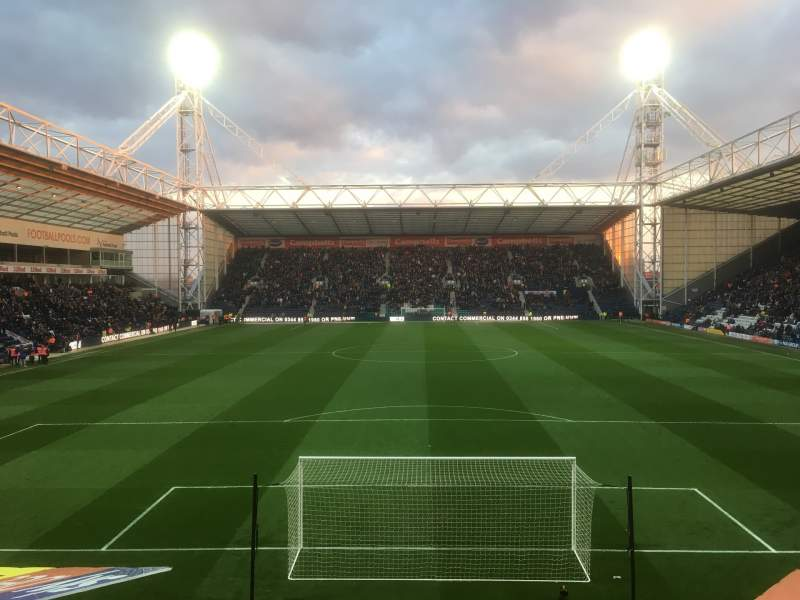 Seating view for Deepdale Section N Row 15 Seat 88