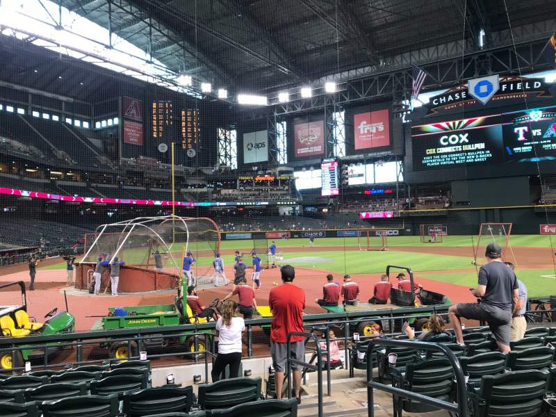 Seating view for Chase Field Section H Row I Seat 2