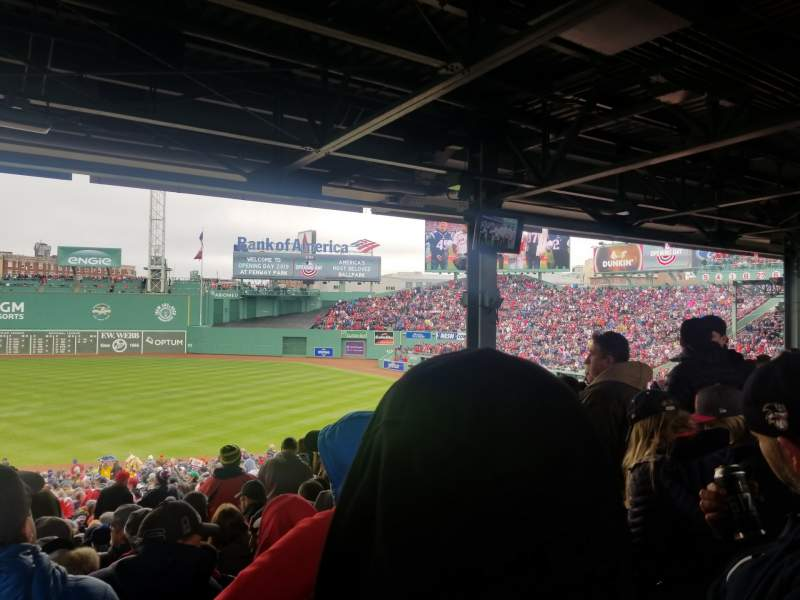 Seating view for Fenway Park Section Grandstand 10 Row 12 Seat 12