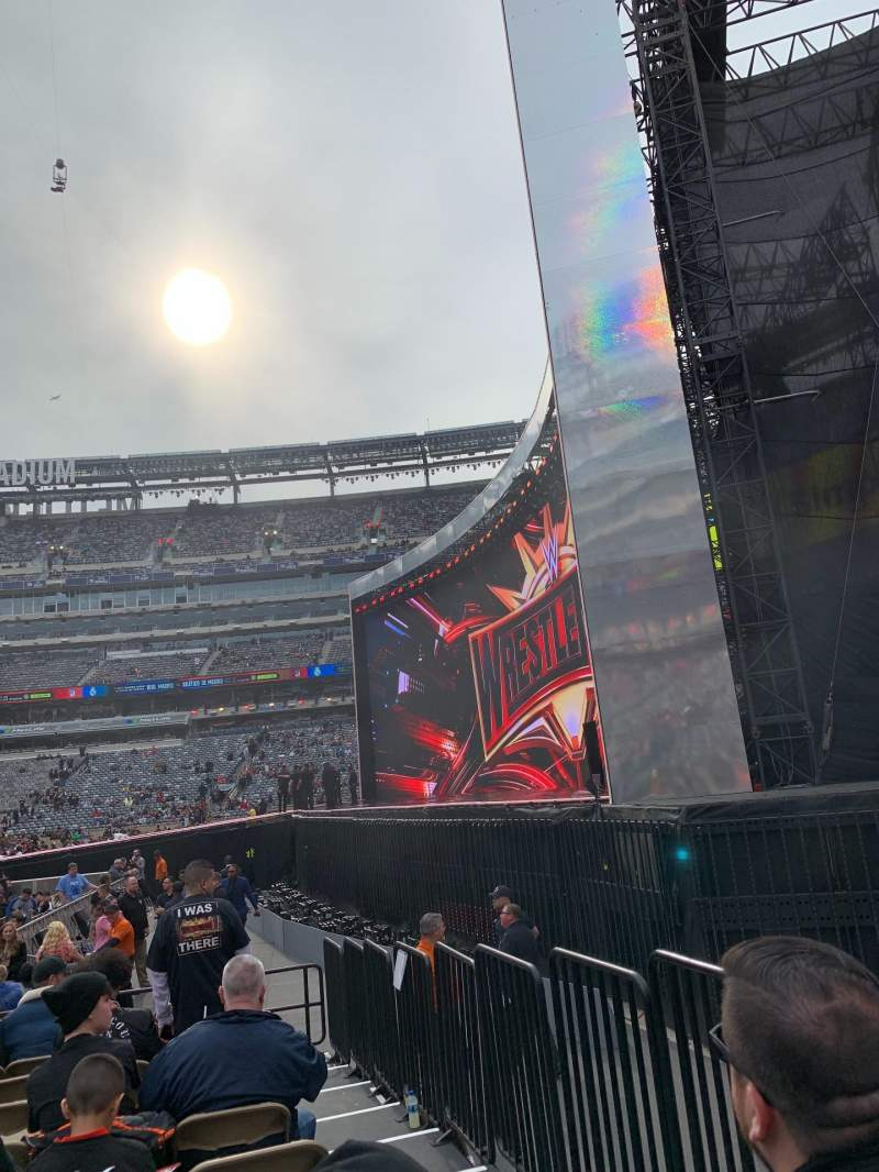 Seating view for MetLife Stadium Section 109F Row O Seat 14-17