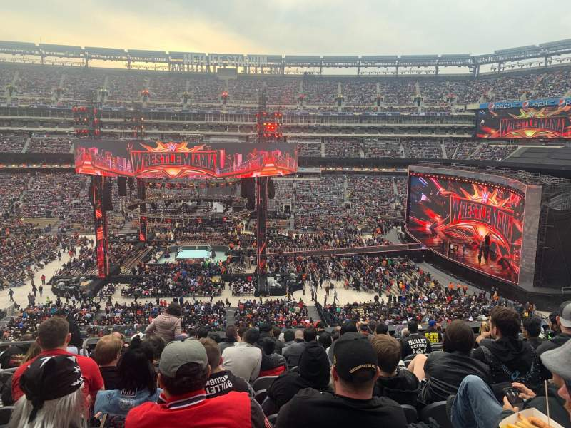Seating view for MetLife Stadium Section 212 Row 12 Seat 20
