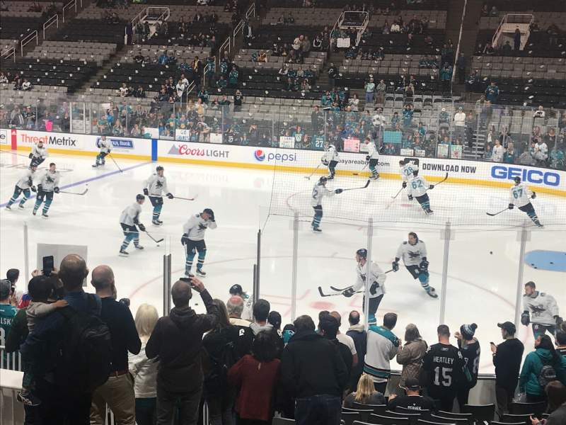Seating view for SAP Center Section 127 Row 9 Seat 8