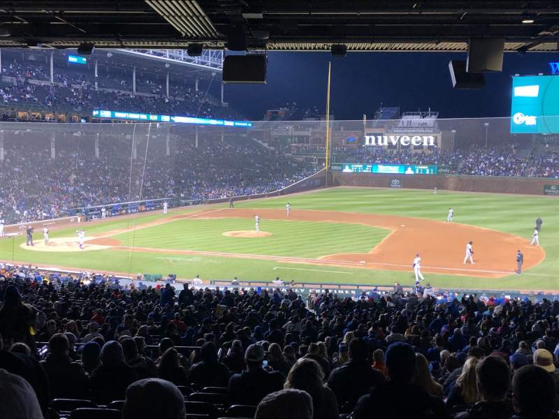 Seating view for Wrigley Field Section 225 Row 16 Seat 16