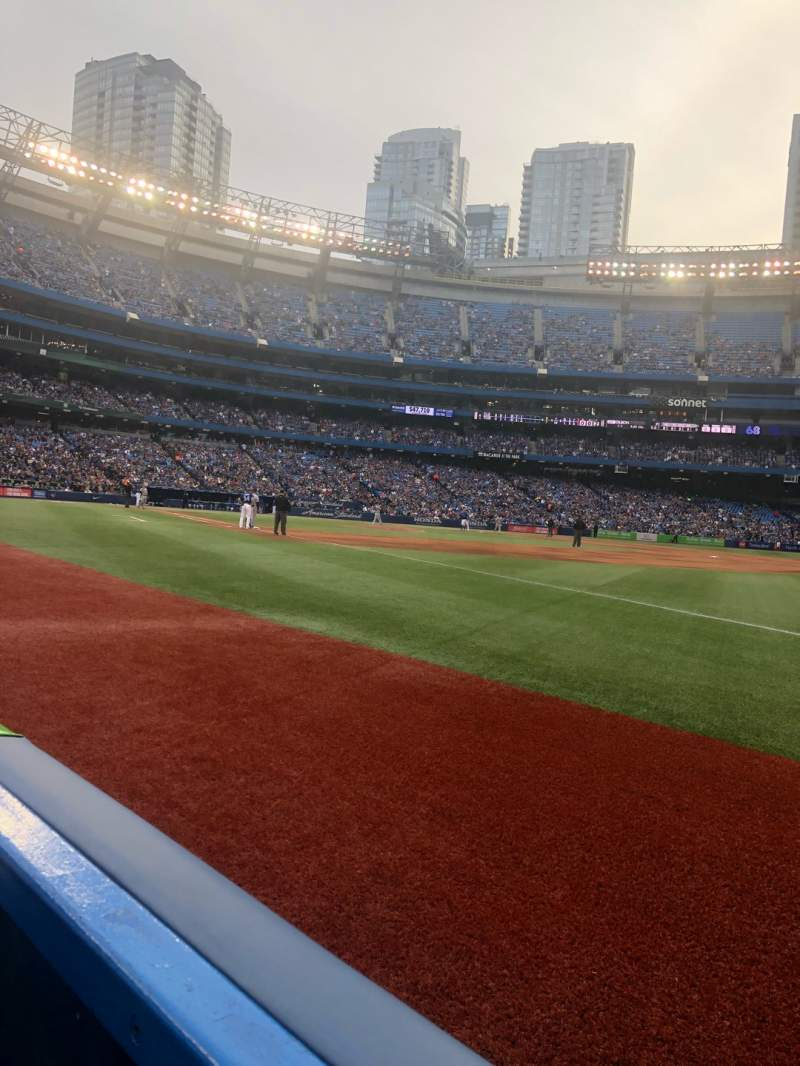 Seating view for Rogers Centre Section 113BL Row 1 Seat 106