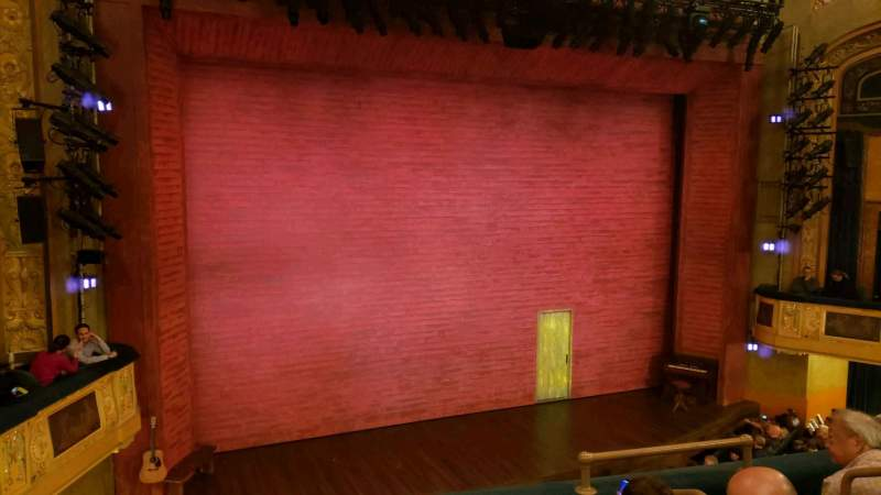 Seating view for Shubert Theatre Section mezzanine l Row d Seat 7