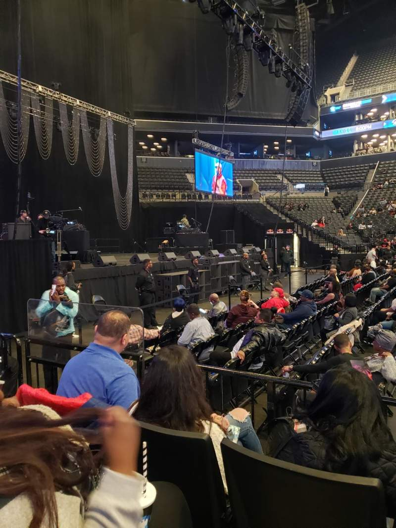 Seating view for Barclays Center Section 25 Row 3 Seat 16