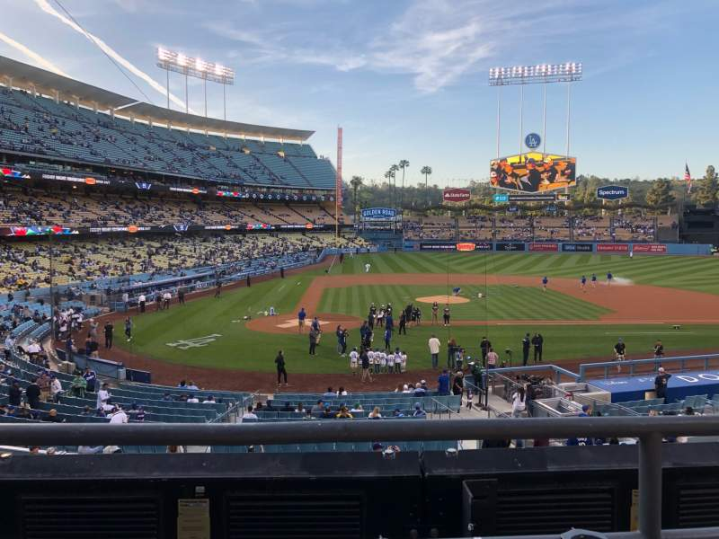 Seating view for Dodger Stadium Section 120LG Row B Seat 1-2