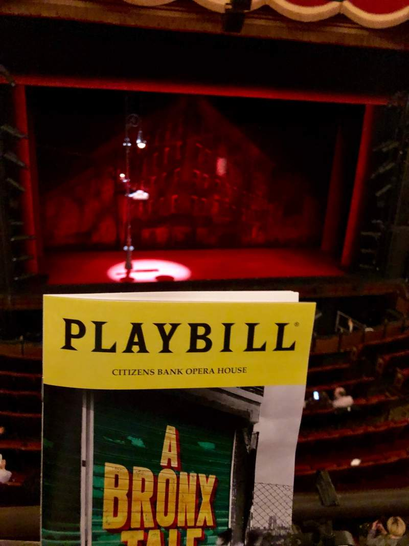 Seating view for Citizens Bank Opera House Section DRESS CIRCLE Row Aa Seat 01