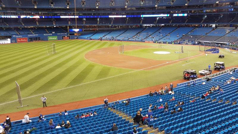 Seating view for Rogers Centre Section 235R Row 1 Seat 8