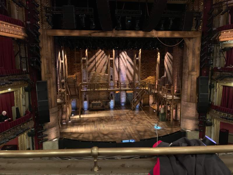 Seating view for CIBC Theatre Section MEZZLC Row B Seat 309-311