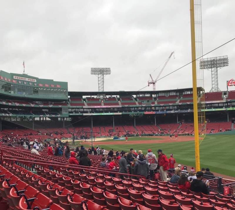 Seating view for Fenway Park Section Right Field Box 93 Row NN Seat 3