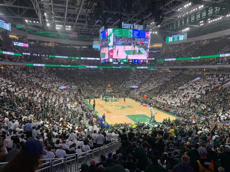 Seating view for Fiserv Forum Section 113 Row 26 Seat 20