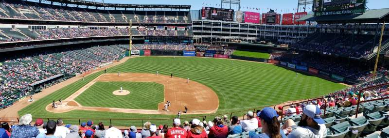 Seating view for Globe Life Park in Arlington Section 233 Row 10 Seat 6