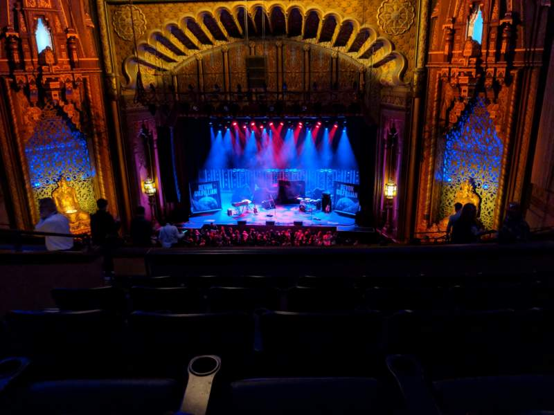 Seating view for Fox Theatre Oakland Section Mezzanine Row K Seat 114