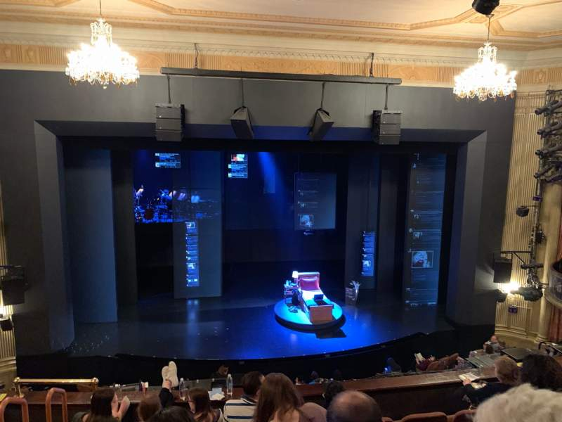 Seating view for Music Box Theatre Section Mezzanine C Row F Seat 110