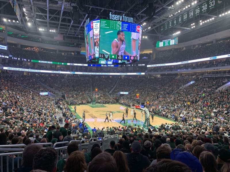 Seating view for Fiserv Forum Section 113 Row 19 Seat 17