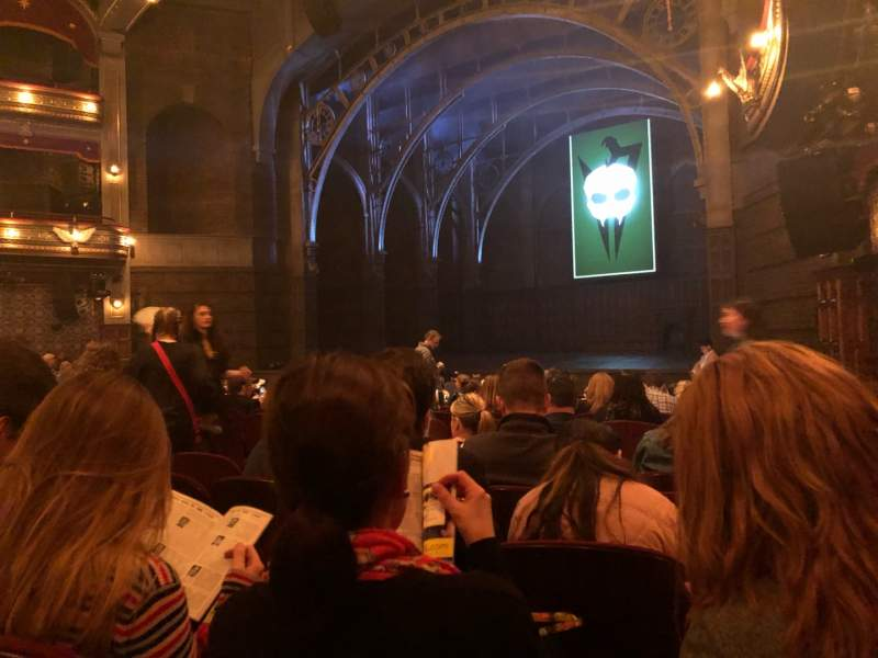 Seating view for Lyric Theatre Section Orchestra R Row O Seat 34