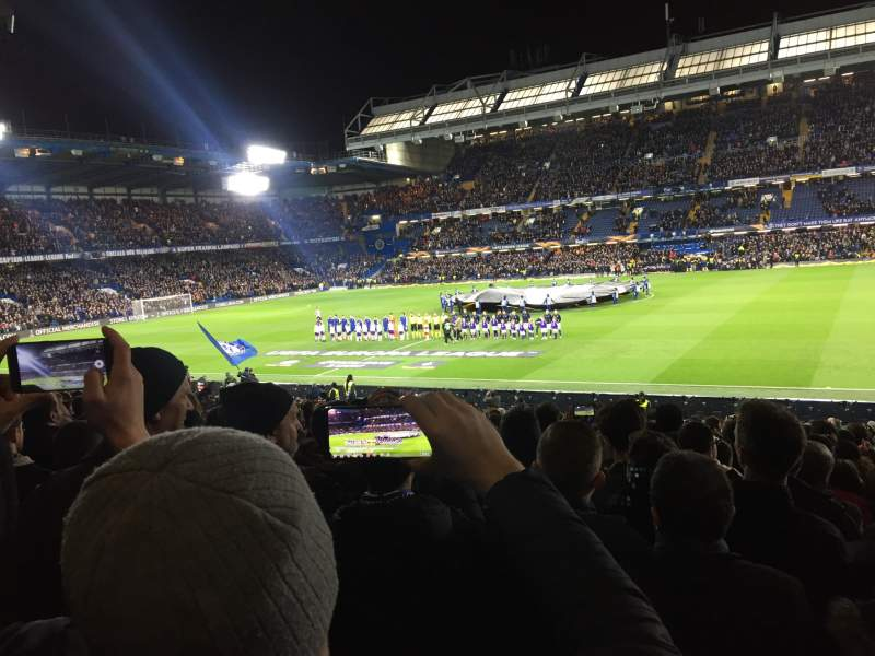 Seating view for Stamford Bridge Section West stand lower Row 30 Seat 53
