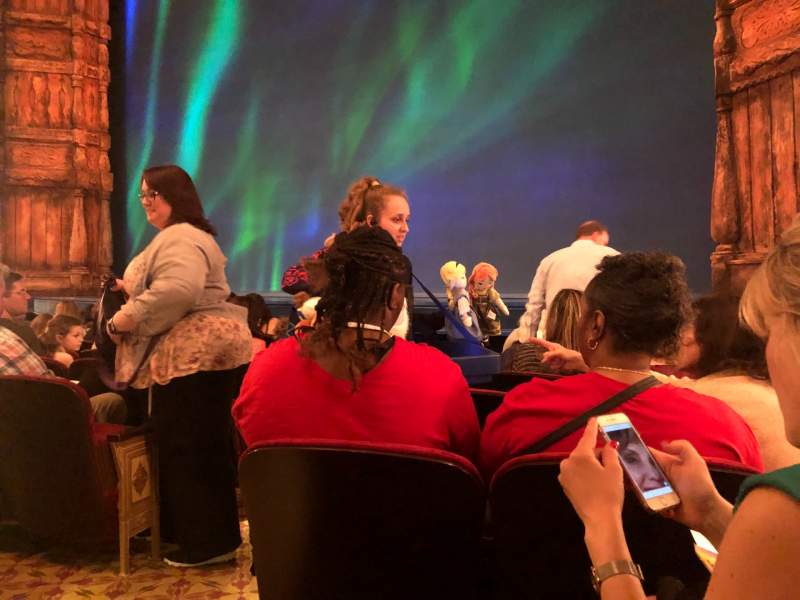 Seating view for St. James Theatre Section Orchestra R Row G Seat 4