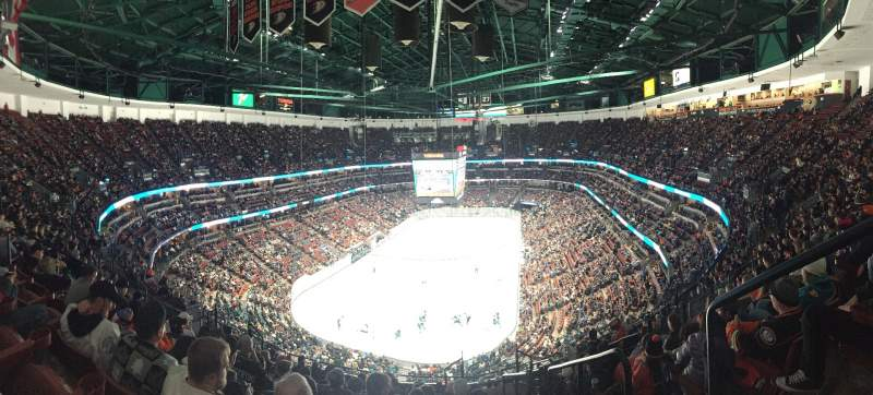 Seating view for Honda Center Section 423 Row Q Seat 1