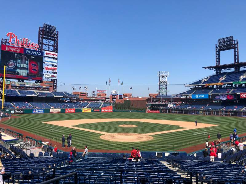 Seating view for Citizens Bank Park Section 123 Row 25 Seat 11,12