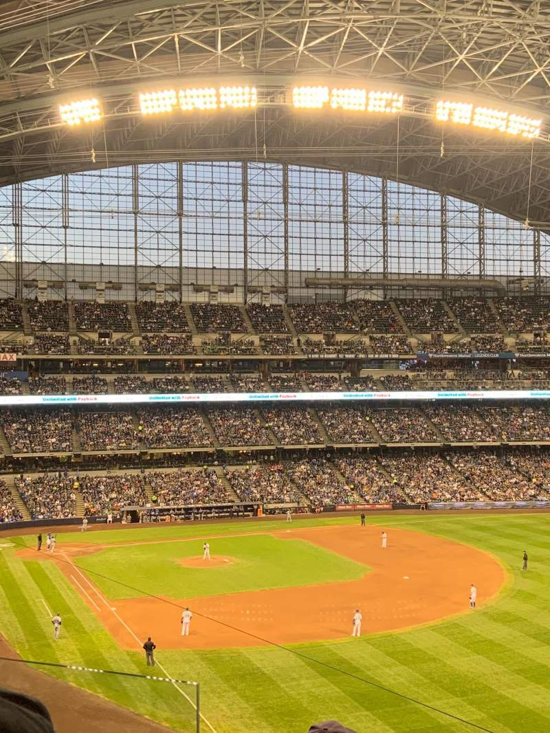 Seating view for Miller Park Section 307 Row 4 Seat 4