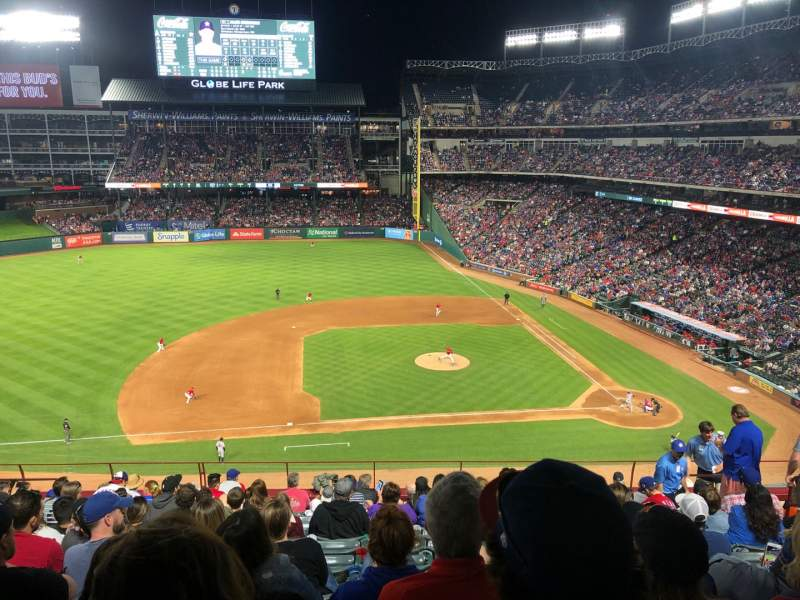 Seating view for Globe Life Park in Arlington Section 219 Row 12 Seat 8
