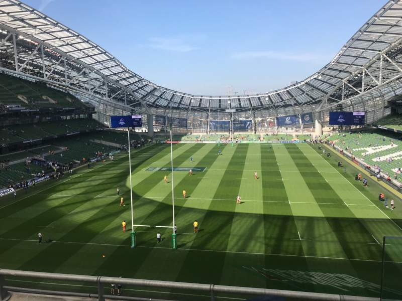 Seating view for Aviva Stadium Section 514 Row C Seat 16