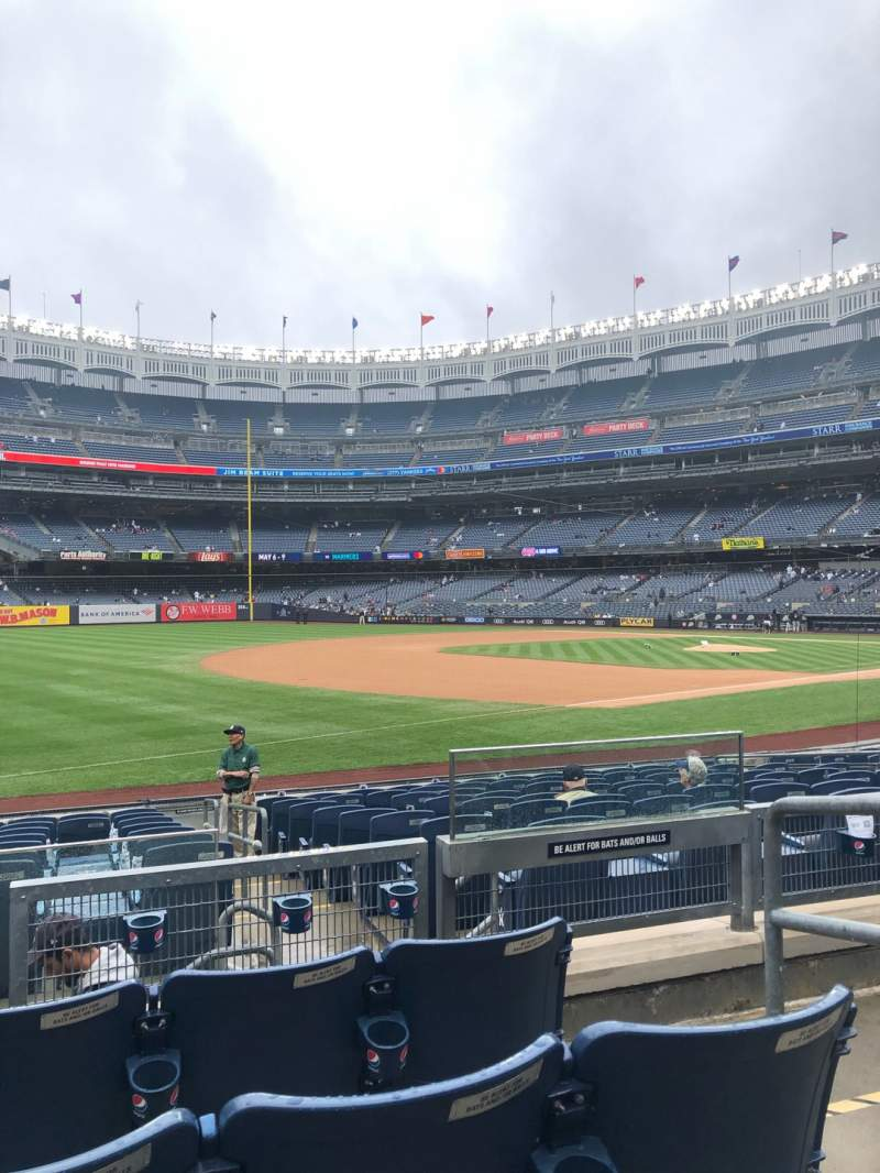 Seating view for Yankee Stadium Section 128 Row 4 Seat 3