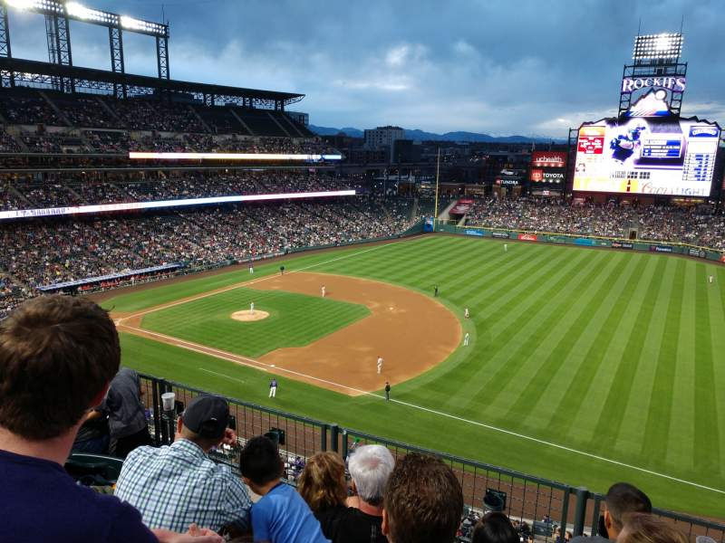 Seating view for Coors Field Section L318 Row 4 Seat 9