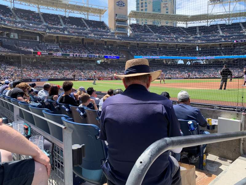 Seating view for PETCO Park Section 115 Row 4 Seat 1