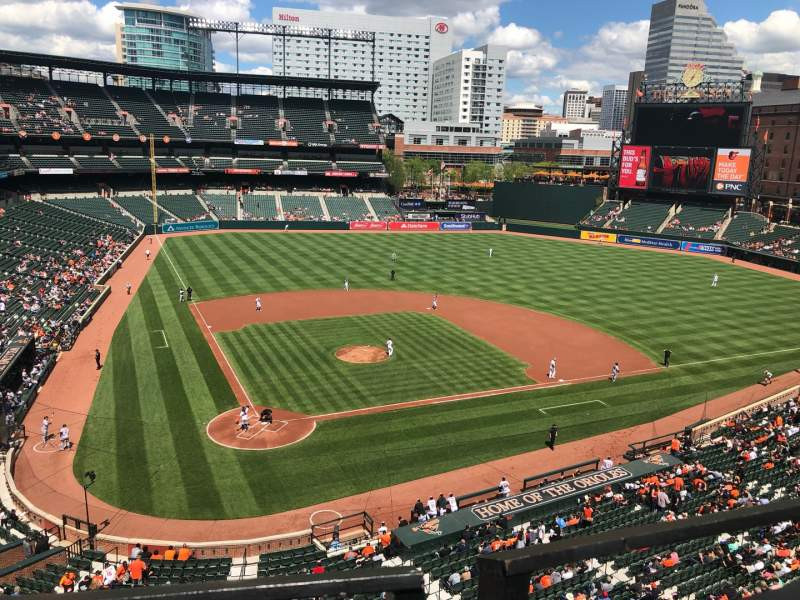 Seating view for Oriole Park at Camden Yards Section 330 Row 1 Seat 2