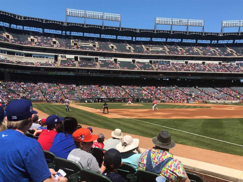 Seating view for Globe Life Park in Arlington Section 38 Row 5 Seat 1