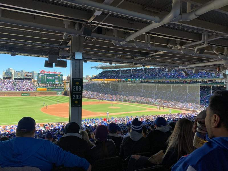 Seating view for Wrigley Field Section 208 Row 16 Seat 18