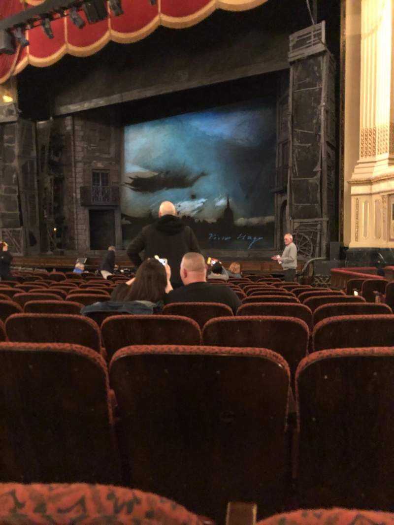 Seating view for Citizens Bank Opera House Section Orchestra Right Center Row K Seat 26