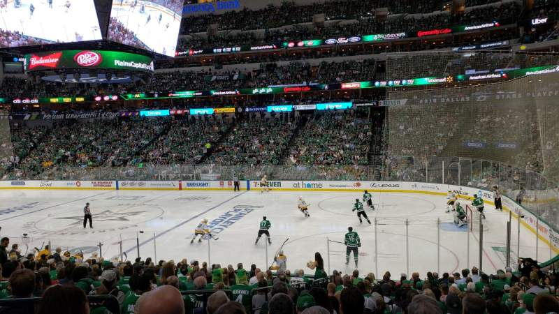 Seating view for AMERICAN AIRLINES CENTER Section 116 Row V Seat 17