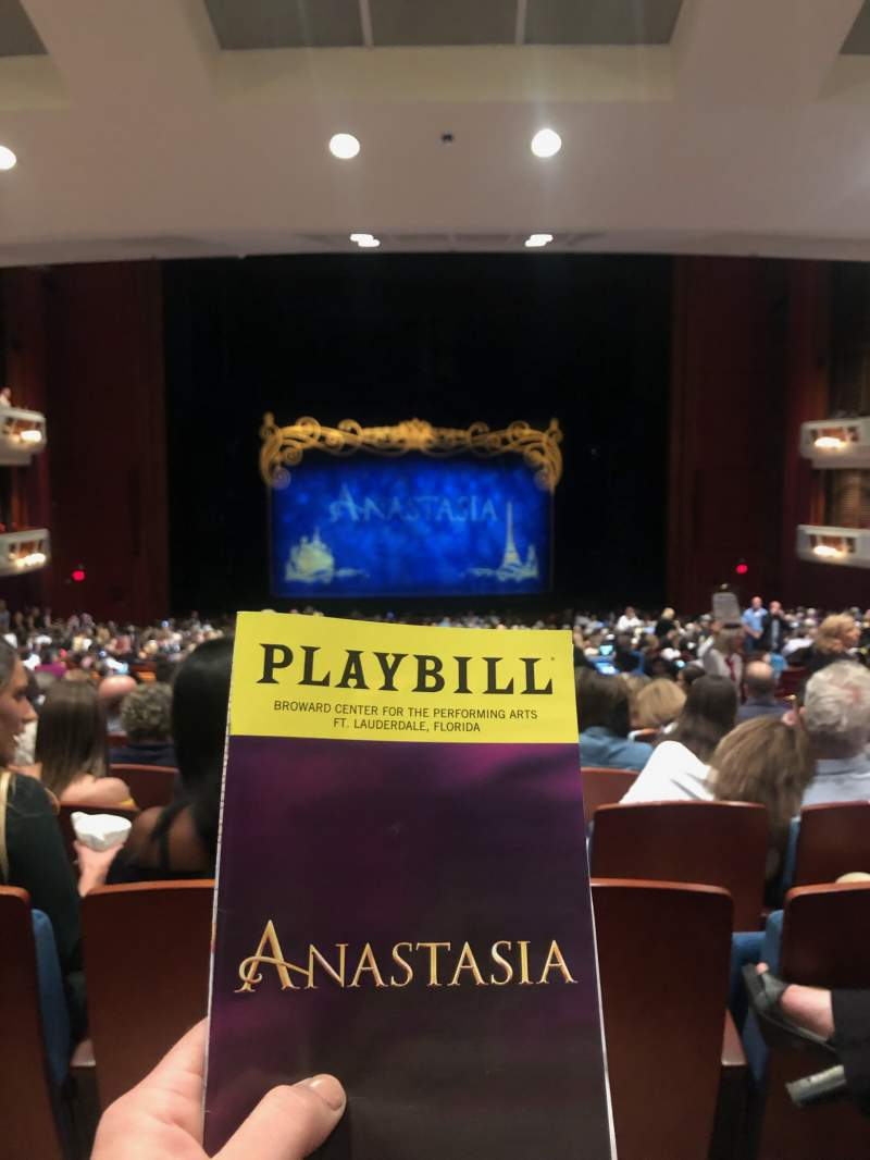 Seating view for Au-Rene Theatre at the Broward Center Section Orchestra C Row MM Seat 111