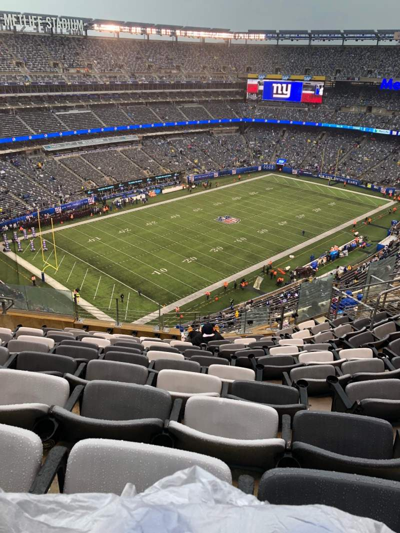 Seating view for Metlife Stadium  Section 345 Row 14 Seat 16