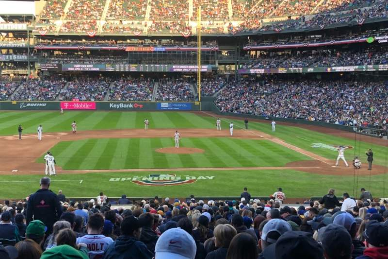 Seating view for T-Mobile Park Section 137 Row 35 Seat 10