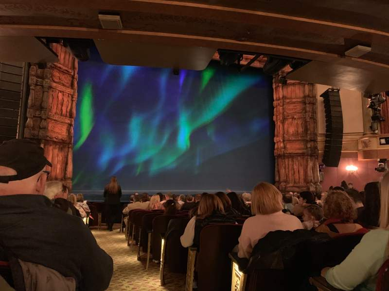 Seating view for St. James Theatre Section Orchestra L Row O Seat 1