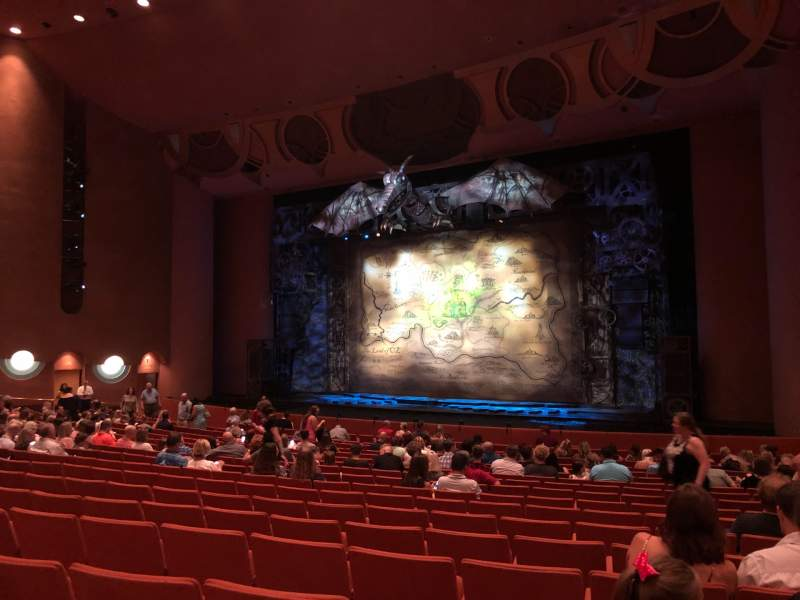 Seating view for ASU Gammage Section ORCHA2 Row 17 Seat 46 and 48